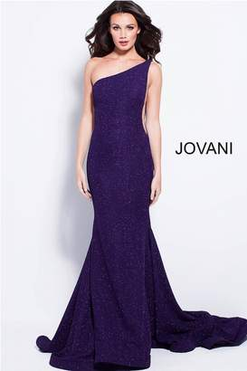 Jovani Purple Glitter Gown