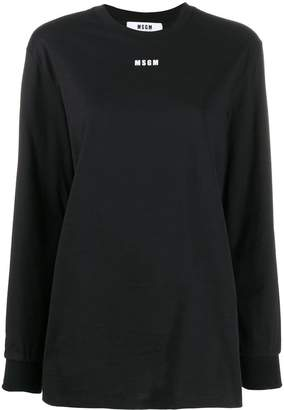 MSGM logo printed long-sleeved T-shirt