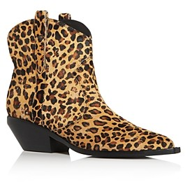 Sigerson Morrison Women's Tacly Leopard Print Calf Hair Booties