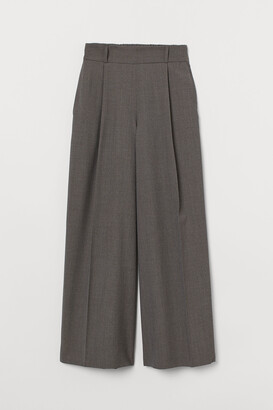 H&M Wide wool trousers