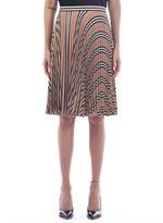 Burberry Pleated Crepe Skirt