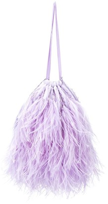 ATTICO Greta feather handbag
