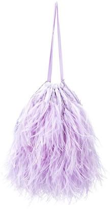 The Attico Greta feather handbag