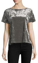 Rebecca Minkoff Alana Crewneck Short-Sleeve Velvet Top