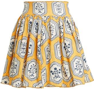 Agua Bendita Agua By Tropic Riviera Linen Mini Skirt