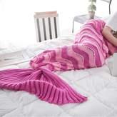Sealands knitted Mermaid Tail Blanket for Adults Teens,Kids Crochet Snuggle Mermaid,All Seasons Seatail Sleeping Blanket