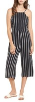 Love, Fire Women's Stripe Crop Wide Leg Jumpsuit