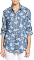 KUT from the Kloth Women's Phoenix Print Chambray Shirt
