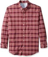 Izod Men's Big Long Sleeve Oxford Plaid Shirt