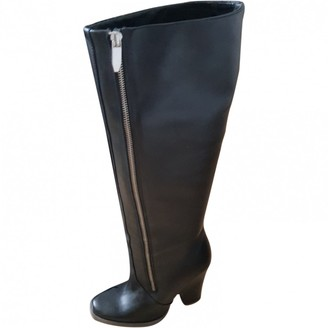 Theyskens' Theory Black Leather Boots