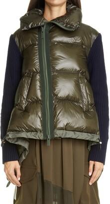 Sacai Sweater Panel Puffer Jacket