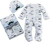 Baby Aspen Little Man Mustache Sleep & Play & Hat Gift Set - Baby Boy