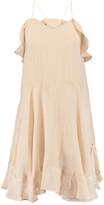 Chloé Ruffled linen-blend dress