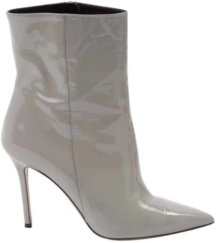 Aperlaï Patent leather ankle boots