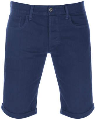 G Star Raw 3301 Denim Shorts Blue