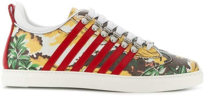 DSQUARED2 New Runner printed sneakers