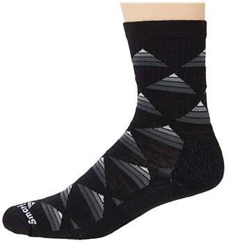 Smartwool Hike Light Elite Burgee Crew (Black) Men's Crew Cut Socks Shoes