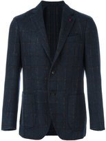 Lardini 'Supersoft' checked blazer - men - Polyamide/Polyester/Viscose/Wool - 52