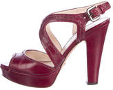 Prada Leather Platforms Sandals