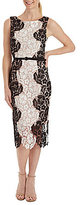 Jax Sleeveless Two-Tone Lace Sheath Dress