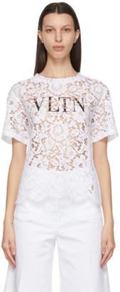 Valentino White Lace VLTN Blouse
