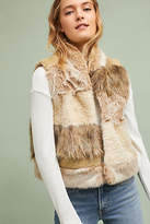 Anthropologie Mixed Faux Fur Vest