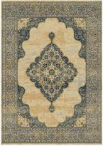 Bed Bath & Beyond Radiance Traditional 6-Foot 6-Inch X 9-Foot 10-Inch Area Rug in Gold/Navy