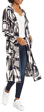 Nic+Zoe Alphabet Printed Trench Coat