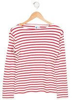 Petit Bateau Girls' Striped Knit Sweater