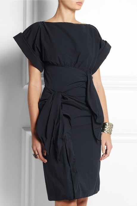 Bottega Veneta Bow-embellished stretch cotton-blend dress