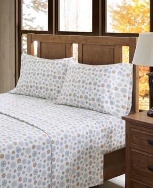Sleep Philosophy True North Cotton Flannel 4-Piece King Sheet Set Bedding