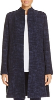 Eileen Fisher Stand Collar Open Front Jacket