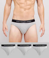 Polo Ralph Lauren Briefs In 3 Pack In Grey