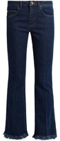 Sonia Rykiel Mid-rise flared cropped jeans