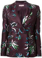 Emilio Pucci floral print fitted jacket - women - Wool - 38