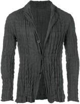 Issey Miyake pleated pinstripe blazer