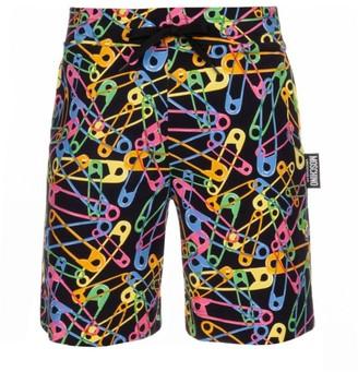 Moschino Neon Brushed Cotton Fleece Short Pants