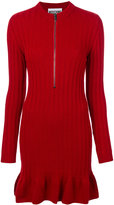 Moschino ribbed knit zip dress
