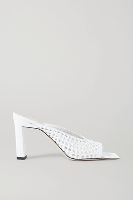 Wandler Isa Woven Leather Mules - White
