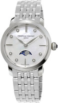 Frederique Constant FC-206MPWD1SD6B Slinline Moonphase stainless steel and diamond watch