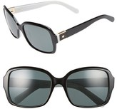 Kate Spade Women's 54Mm Polarized Sunglasses - Black/ White
