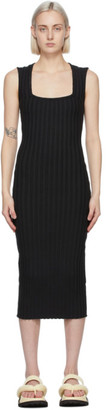 Simon Miller Black Amos Mid-Length Dress