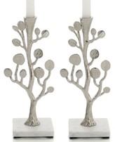 Michael Aram Set of 2 Botanical Leaf Candlestick Holders