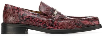 Martine Rose square toe loafers