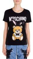 Moschino Fitted Playboy Teddy Bear Cotton Tee