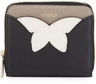 Furla Aly S Two-Tone Leather Zip Wallet