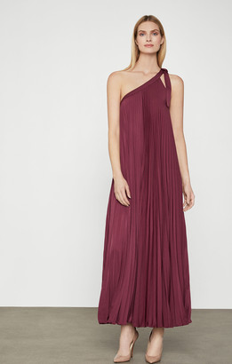BCBGMAXAZRIA Bow Shoulder Pleat Dress