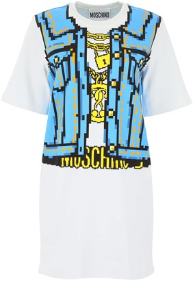 Moschino Denim Print Mini Dress