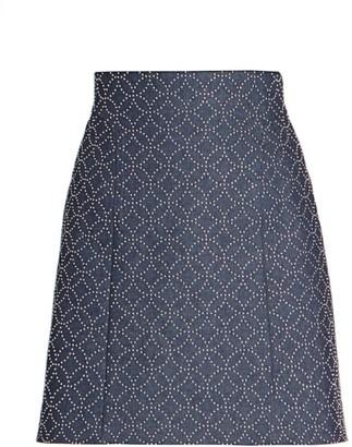 Alaia Studded Denim Mini Skirt
