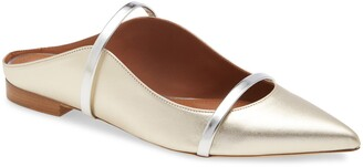 Malone Souliers Maureen Metallic Pointed Toe Flat